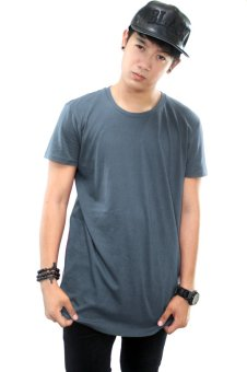 BLKSHP Oversized Softstyle Longline Tee (Solid Smoke Grey) Price Philippines