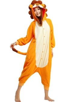 Harga ufosuit orange Lion Adult Animal Kigurumi Onesie-orange - Intl