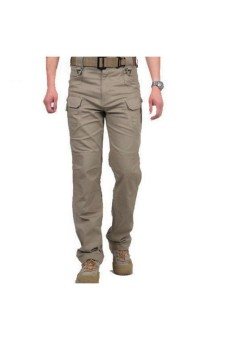 Harga Moonar Military Multi-pockets Tactical Cargo Pants (Khaki) - Intl