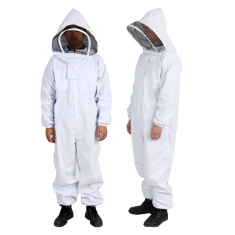 Harga Andux Beekeeping Protective Suit Set Anti-bee Equipment One-piece Beekeeper Suit with Veil Hood YFF-01 White (XL) - intl