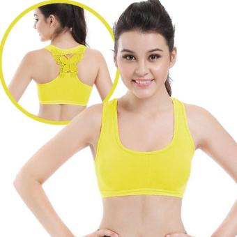 Harga Treeco Fitness Seamless Active Sports Bra (Yellow)