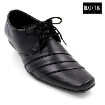 Black Tag Aaron Leather Black Shoes for Men (Black) Price Philippines