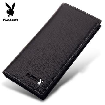 Men's long thin leather wallet dandy is brand Wallet Mens Leather Wallet Korean vertical section - intl Price Philippines