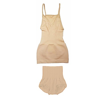 Munafie Japan Slimming Camisole Sando and Munafie Japan Seamless Panty Girdle Set 1 (Beige) Price Philippines