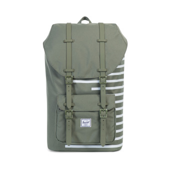 Herschel Little America Offset Backpack (Dp Lchn Gn/Dblnc Str) Price Philippines