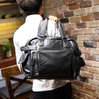 Tidog Male bag shoulder bag man inclined han edition bag fashion leisure bag tote bag - intl Price Philippines
