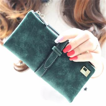 Authentic Nubuck Leather High Quality Wallet Women (Green) Price Philippines