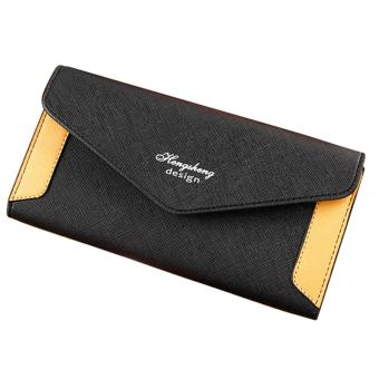 Harga long style lady wallet (black)