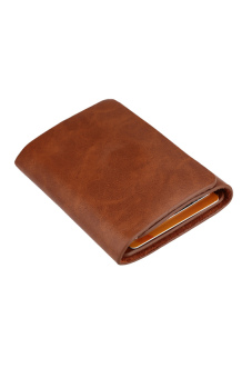 Fashion Men Money Clip Wallet Genuine Leather Short Card Holder Trifold Magnet Business Mini Wallet Coffee/Brown Price Philippines