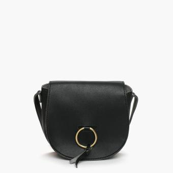 Harga Parisian Ladies Oved Cross Body Bag (Black)