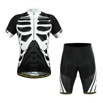 Bones Pattern Sports Team Cycling Jersey Shirt + Shorts(Int:S) - intl Price Philippines