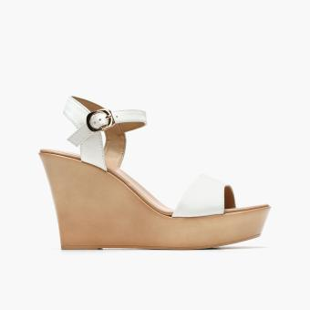 Harga Parisian Ladies Steffi Wedge Sandals (White)