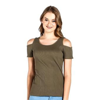PENSHOPPE Cut Out Shoulder (Olive) Price Philippines