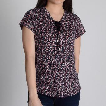 Harga Redgirl Short Sleeves Blouse Rgt12-0392 (Black/N.Rust )