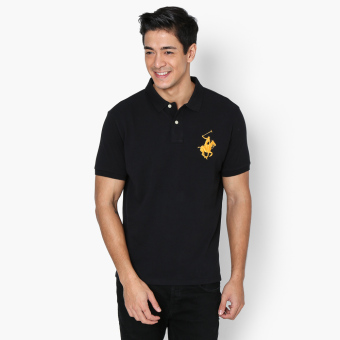 Harga Beverly Hills Polo Club Collar Pop Mens Polo Shirt (Black)
