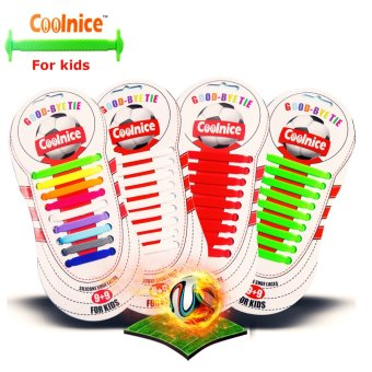Coolnice® No Tie Shoelaces for Teenagers and Kids Outdoor Sports 18pcs- Environmentally Safe silicone Stain Resistant in Fashion Colors - Intl Price Philippines