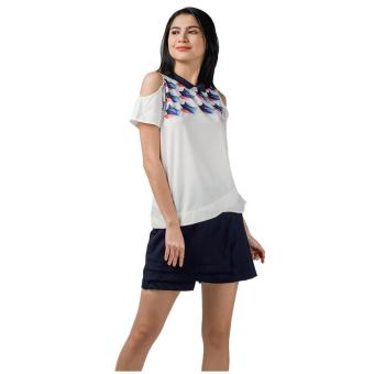 Harga Plains & Prints Miller Short Sleeves Top (Offwhite)