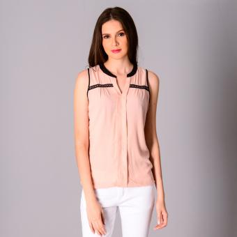 Harga Redgirl Sleeveless Woven Blouse RLT04-2854 (Evening Sand)