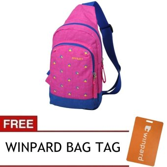 Harga Diviley 2016 16408 Unisex Shoulder Cross Sling Bag (Rose) With Free Winpard Bag Tag