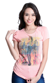 Freego Heat Press Printed Tee (Peach Melba) Price Philippines