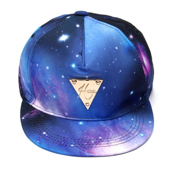 Harga Hot Fashion Galaxy Print Hiphop Cap Snapback Baseball Cap Adjustable Hat Unisex