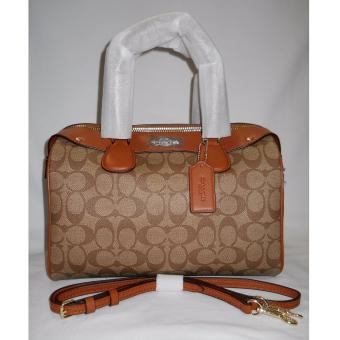 COACH Signature Bennett Satchel - Brown Price Philippines