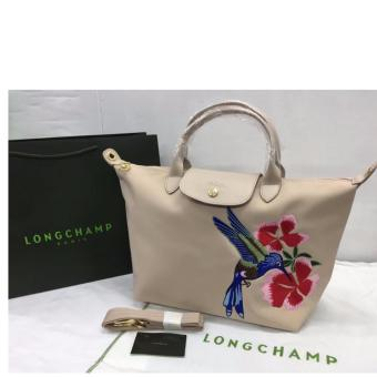 Longchamp Robin Embroidered Medium Tote Bag (Beige) Price Philippines