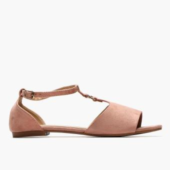 Harga Parisian Plus Ladies Polly Flat Sandals (Blush)