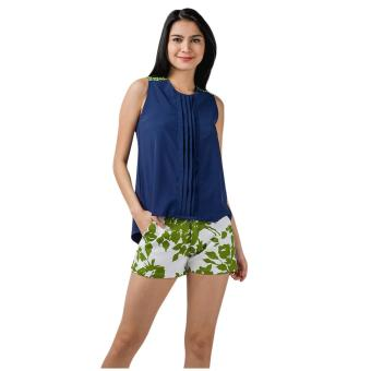 Harga Plains & Prints Macoy Sleeveless Top (Navy)