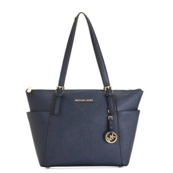 Harga Top rate MK Jet Totes Handbag (Navy) - intl