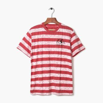Harga Mickey Mouse Teens Striped Tee (Red)