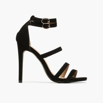 Harga Parisian Ladies Paris Strappy Sandals (Black)