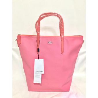 Harga LACOSTE WOMEN'S L.12.12 CONCEPT VERTICAL TOTE BAG PINK