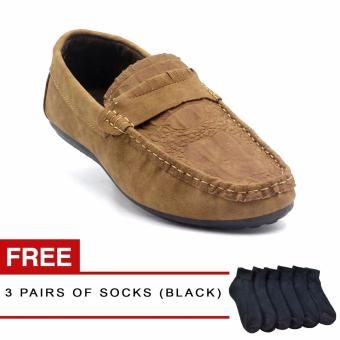 Black Tag Arlo C25 Casual For Men (Brown) with Free 3 Pairs of Black Socks Price Philippines