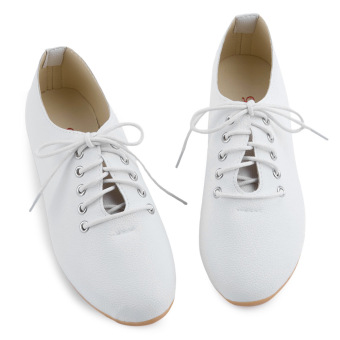 Lady Flat Casual Canvas Shoes Nursers Footwear (White) - intl Price Philippines