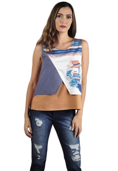 Harga Plains & Prints Hefner Sleeveless Top (Multicolor)