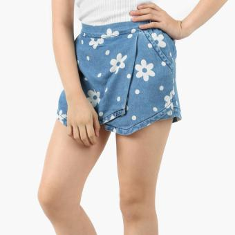 Harga Just Jeans Girls Dotted Floral Origami Chambray Skort (Blue)