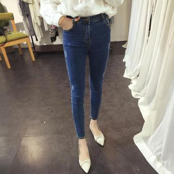 Korean Women Pants Trouser Jean Women Jeans Skinny Jeans Woman High Waist Jeans Femme Sexy Trousers Pants Size S-XL - intl Price Philippines