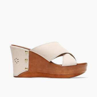 Harga Parisian Ladies Naya Wedge Sandals (Cream)