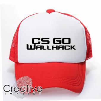 Harga Creative Imprint CS-GO Wallhack Counter Strike Go Gamer Trucker Net Mesh Unisex Cap (Red White)