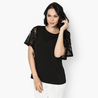 Harga SM Woman Prima Lace-Sleeved Top (Black)