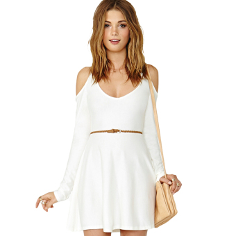 Hequ Strapless Slim Long Sleeved Dress (White) Price Philippines