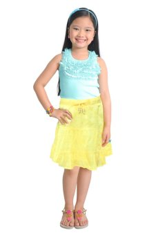 Harga Robby Rabbit Set of 2: Cotton Racerback Tank and Eyelet Midi Skirt (Icy Morn/Yellow)