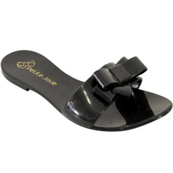 Petite Jolie Slip On Thong Bow Sandals Offline Black (Black) Price Philippines