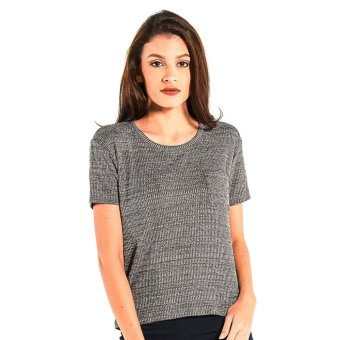 Harga OXYGEN Textured Basic Tee (Charcoal)