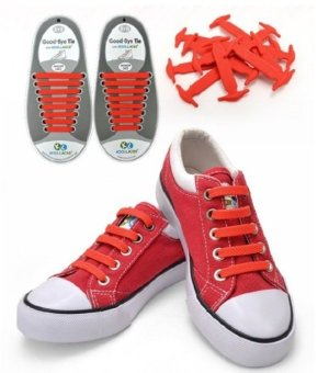 Harga Koollaces No Tie Silicone Laces Red