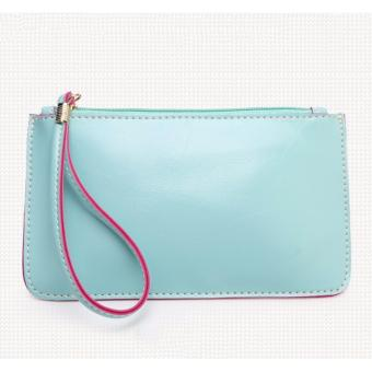Korea candy leather pouch (Skyblue) Price Philippines