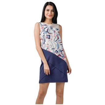 Harga Plains & Prints Marshel Sleeveless Dress (Multi)