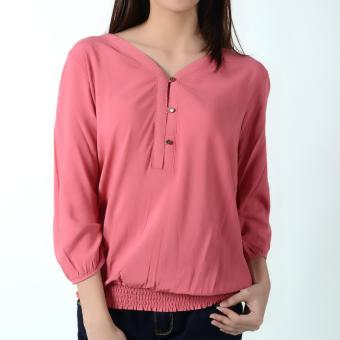 No Apologies Quarter Sleeves Blouse NLT04-1663 (Holy Berry) Price Philippines