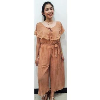 Dion and Mary Mikee Jumpsuit (Light brown) Price Philippines